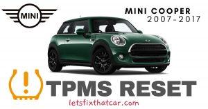 TPMS Reset-Mini Cooper 2007-2017 Tire Pressure Sensor