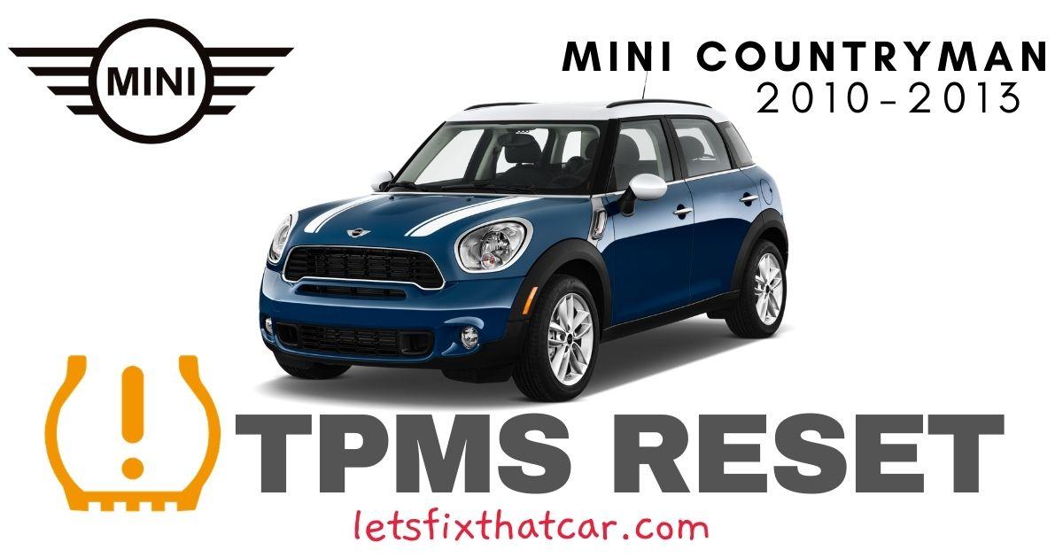 TPMS Reset-Mini Countryman 2010-2013 Tire Pressure Sensor