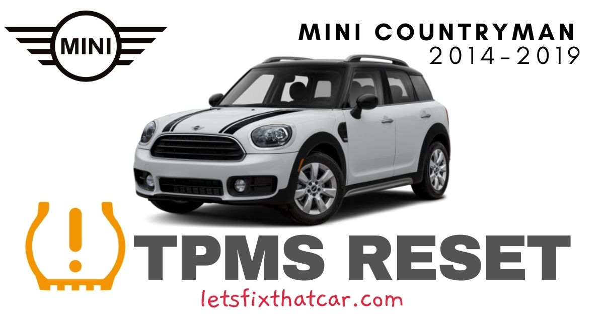 TPMS Reset-Mini Countryman 2014-2019 Tire Pressure Sensor