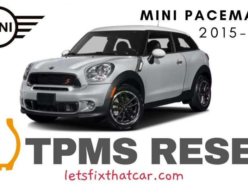 TPMS Reset-Mini Paceman 2015-2016 Tire Pressure Sensor