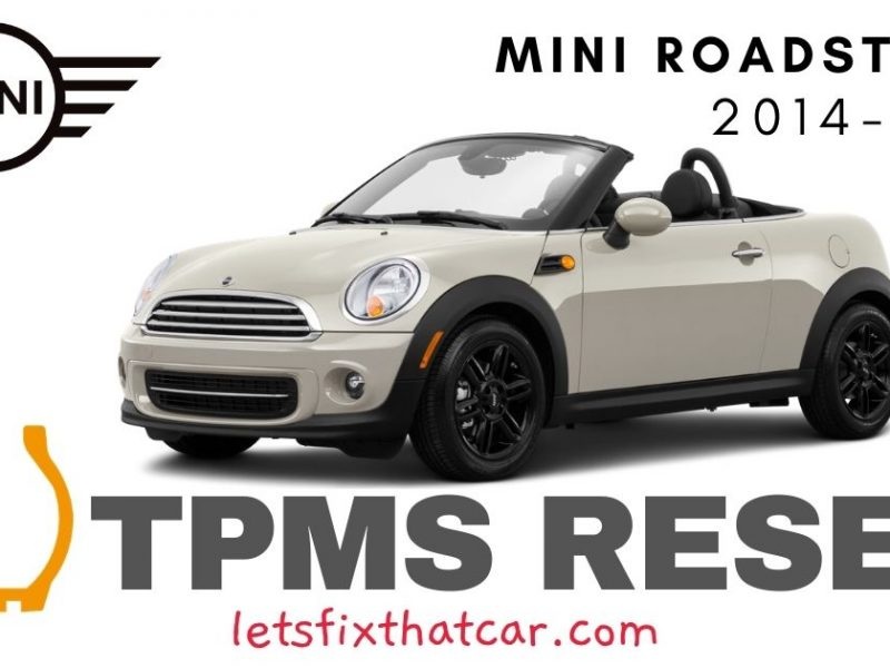 TPMS Reset-Mini Roadster 2014-2015 Tire Pressure Sensor