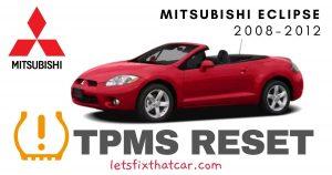 TPMS Reset-Mitsubishi Eclipse 2008-2012 Tire Pressure Sensor