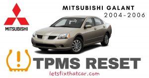 TPMS Reset-Mitsubishi Galant 2004-2006 Tire Pressure Sensor