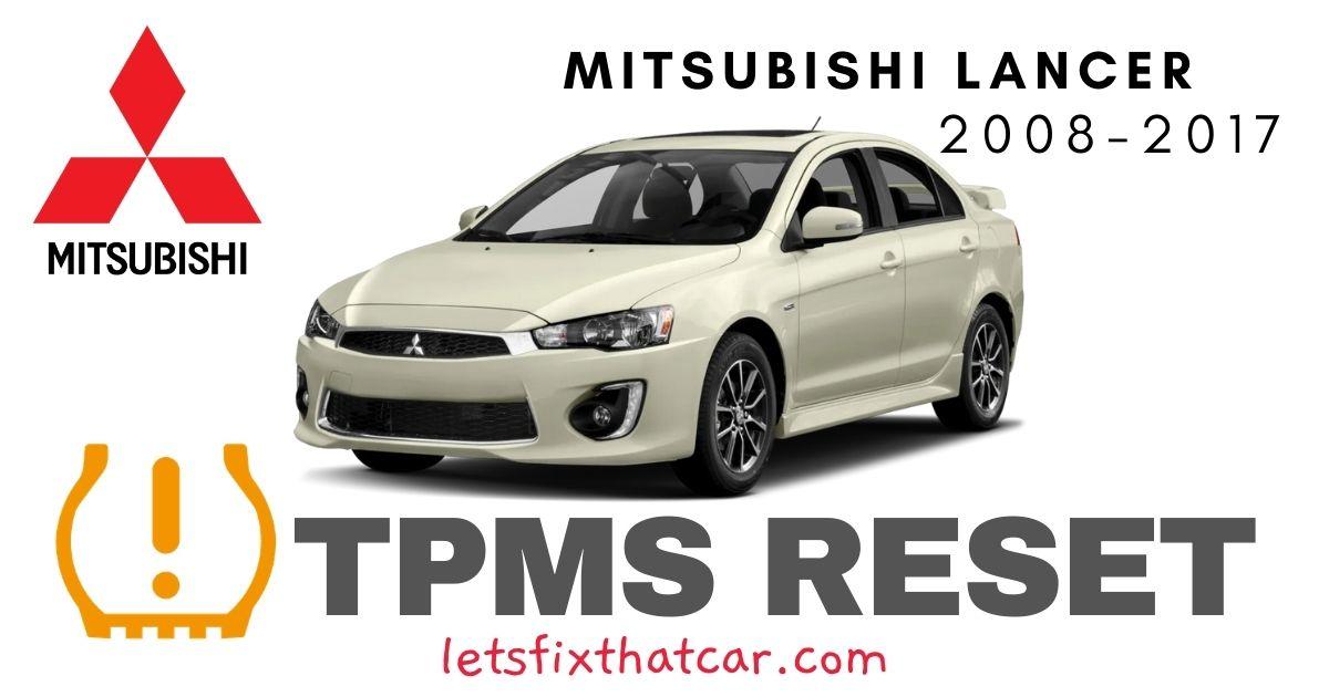TPMS Reset-Mitsubishi Lancer 2008-2017 Tire Pressure Sensor