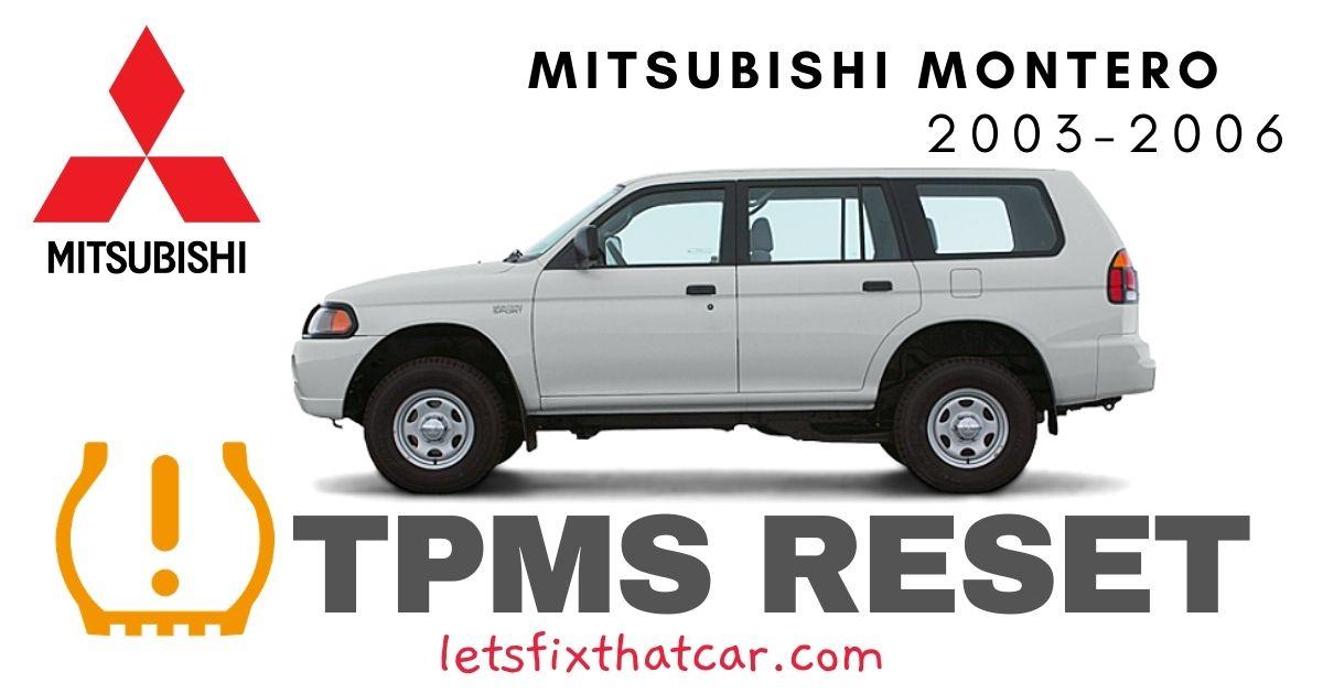 TPMS Reset-Mitsubishi Montero 2003-2006 Tire Pressure Sensor
