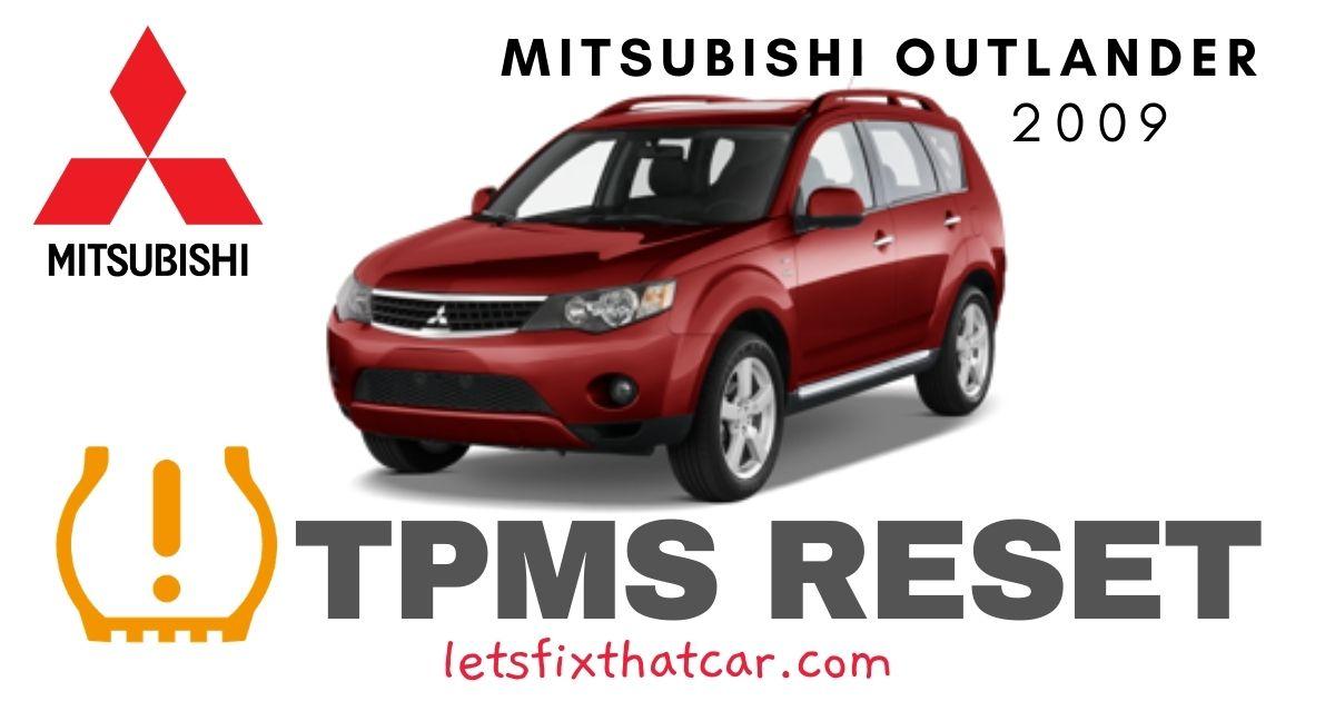 TPMS Reset-Mitsubishi Outlander 2009-Tire Pressure Sensor