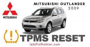 TPMS Reset-Mitsubishi Outlander 2009 Tire Pressure Sensor