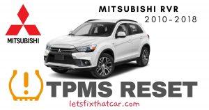 TPMS Reset-Mitsubishi RVR 2010-2018 Tire Pressure Sensor