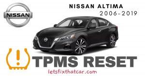 TPMS Reset-Nissan Altima 2006-2019 Tire Pressure Sensor