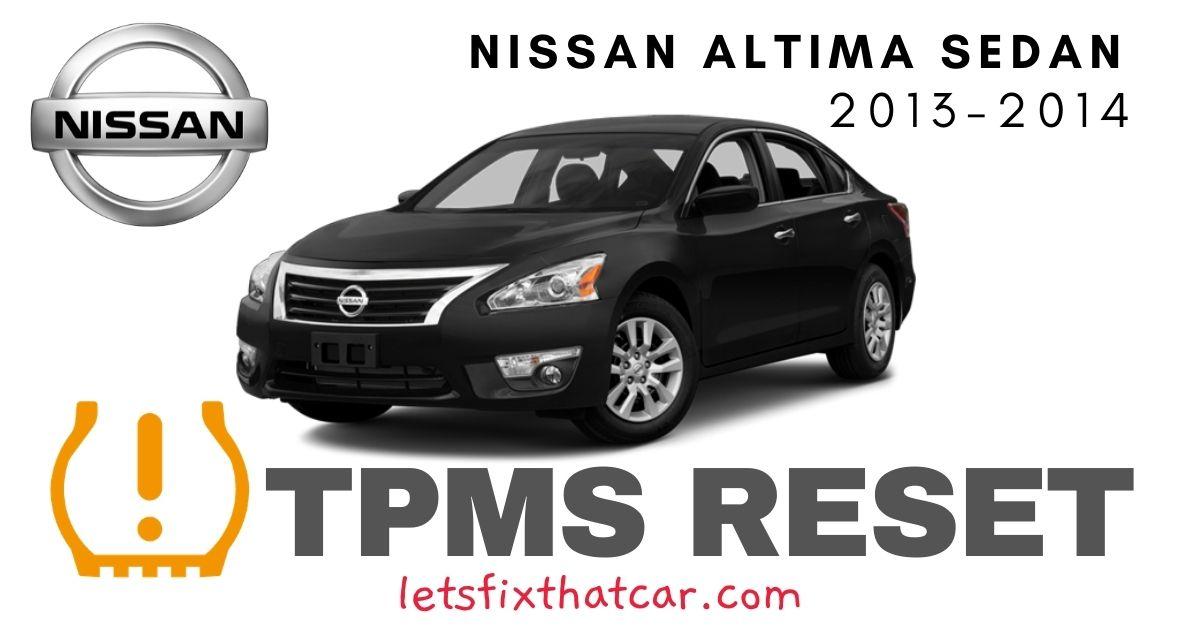 TPMS Reset-Nissan Altima Sedan 2013-2014 Tire Pressure Sensor