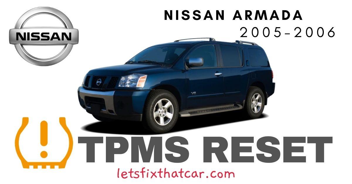 TPMS Reset-Nissan Armada 2005-2006-Tire Pressure Sensor