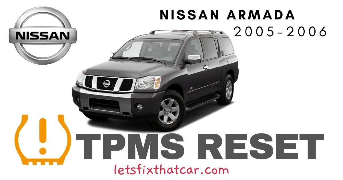 TPMS Reset-Nissan Armada 2005-2006 Tire Pressure Sensor