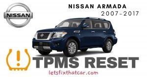 TPMS Reset-Nissan Armada 2007-2017 Tire Pressure Sensor