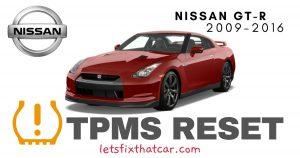 TPMS Reset-Nissan GT-R 2009-2016 Tire Pressure Sensor
