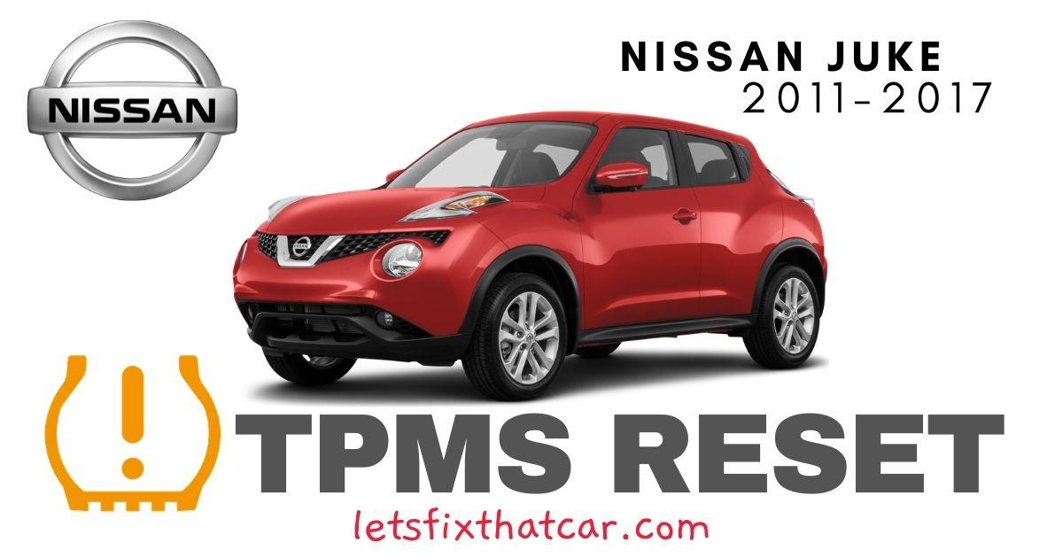 TPMS Reset-Nissan Juke 2011-2017 Tire Pressure Sensor