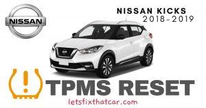 TPMS Reset-Nissan Kicks 2018-2019 Tire Pressure Sensor
