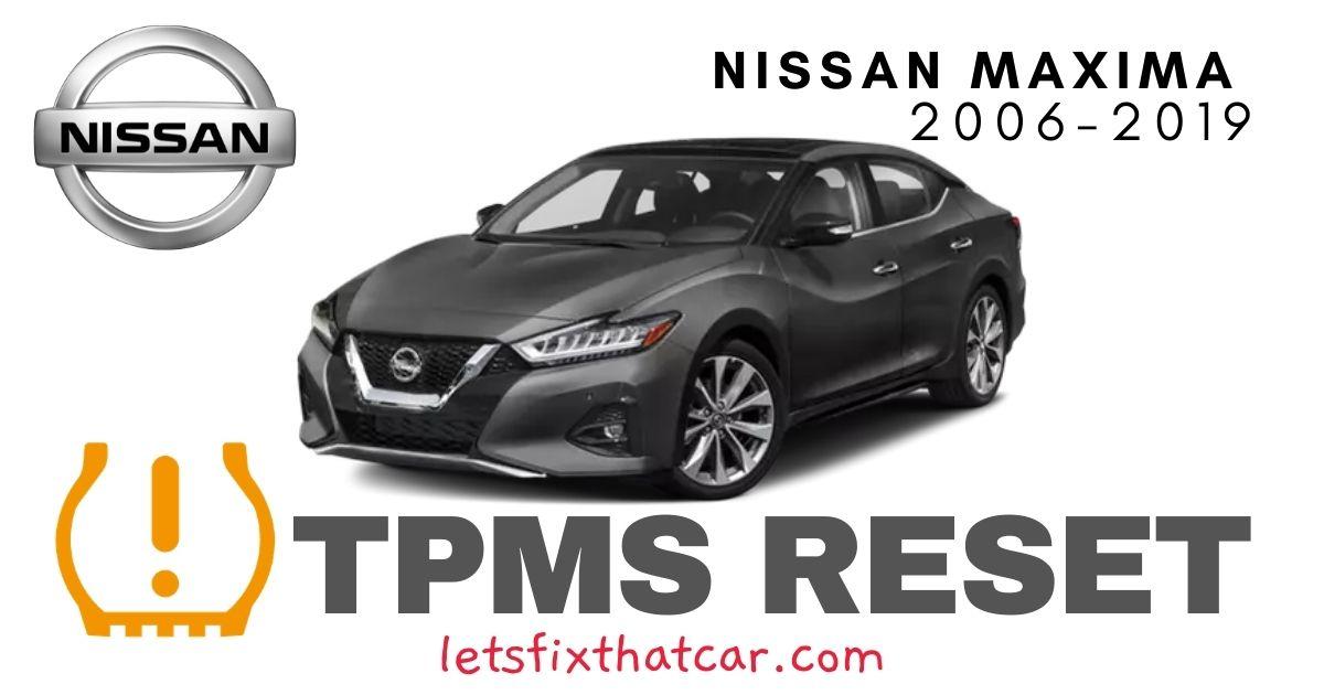 TPMS Reset-Nissan Maxima 2006-2019 Tire Pressure Sensor