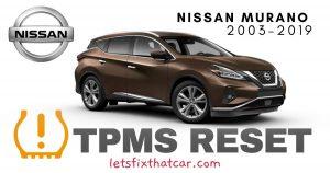 TPMS Reset-Nissan Murano 2003-2019 Tire Pressure Sensor