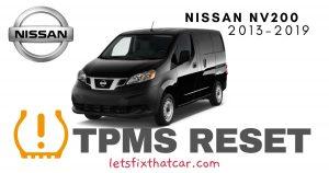 TPMS Reset-Nissan NV200 2013-2019 Tire Pressure Sensor