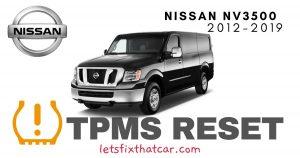 TPMS Reset-Nissan NV3500 2012-2019 Tire Pressure Sensor