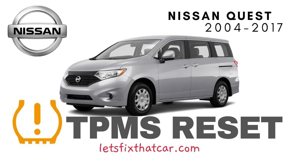 TPMS Reset-Nissan Quest 2004-2017 Tire Pressure Sensor
