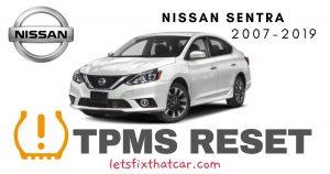 TPMS Reset-Nissan Sentra 2007-2019 Tire Pressure Sensor
