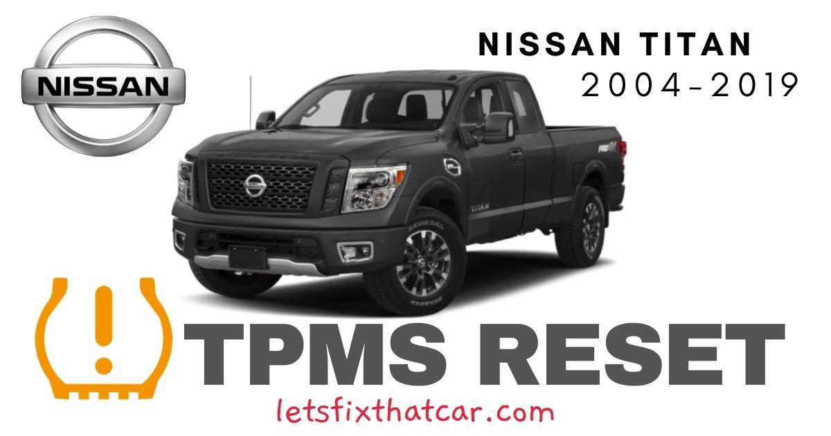 TPMS Reset-Nissan Titan 2004-2019 Tire Pressure Sensor
