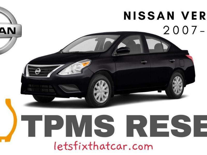 TPMS Reset-Nissan Versa 2007-2019 Tire Pressure Sensor
