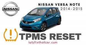 TPMS Reset-Nissan Versa Note 2014-2015 Tire Pressure Sensor