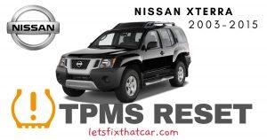 TPMS Reset-Nissan Xterra 2003-2015 Tire Pressure Sensor