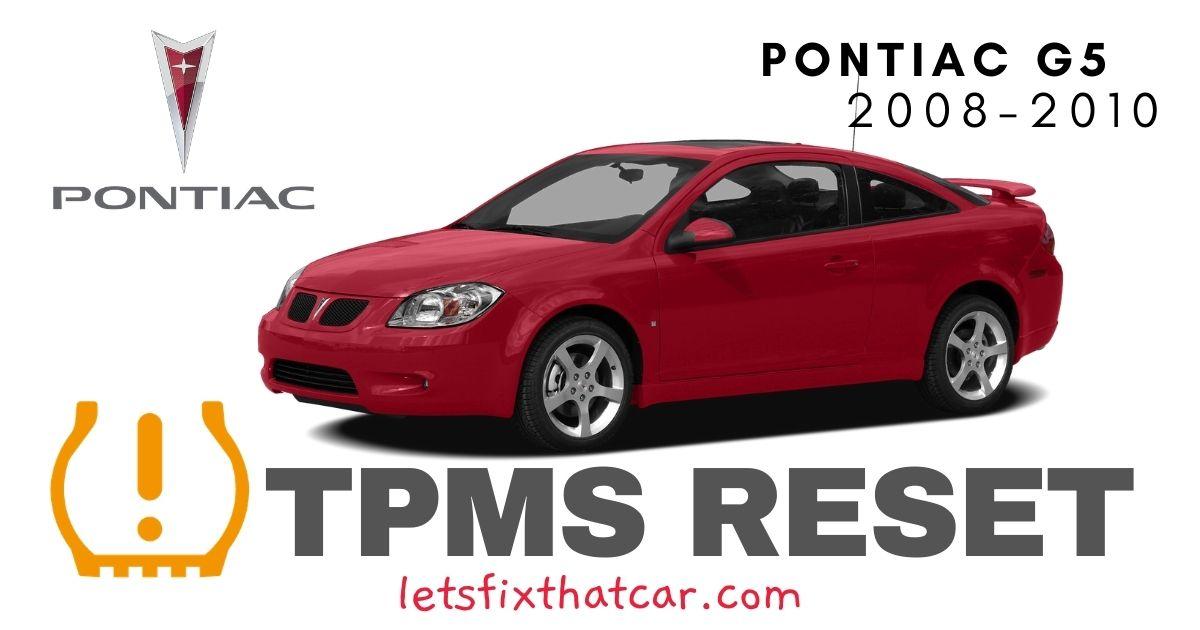 TPMS Reset-Pontiac G5 2008-2010 Tire Pressure Sensor