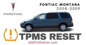 TPMS Reset-Pontiac Montana 2008-2009 Tire Pressure Sensor