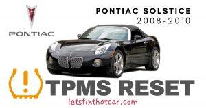TPMS Reset-Pontiac Solstice 2008-2010 Tire Pressure Sensor