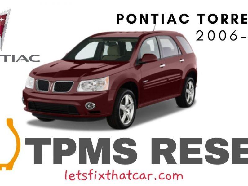 TPMS Reset-Pontiac Torrent 2006-2009 Tire Pressure Sensor