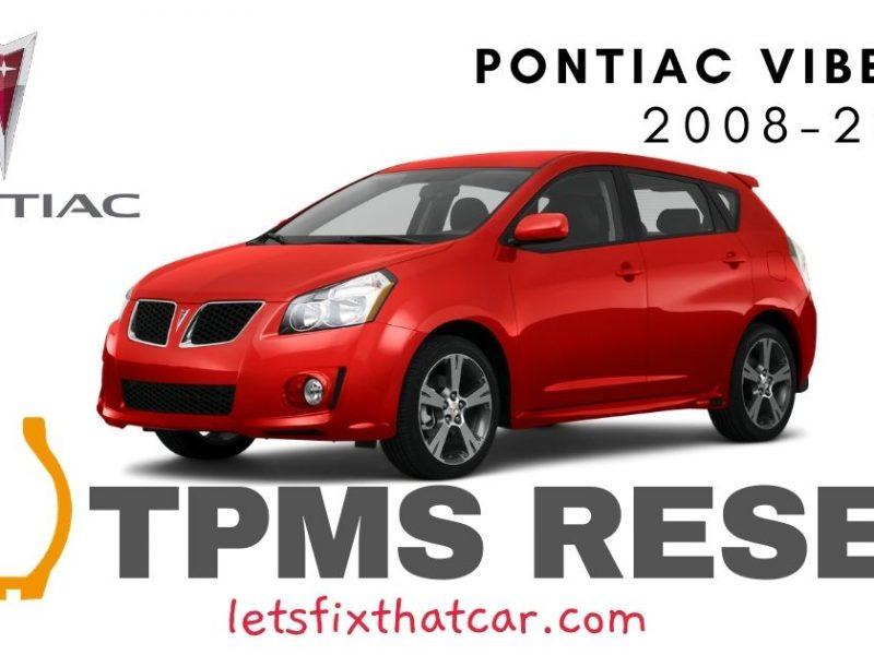 TPMS Reset-Pontiac Vibe 2008-2010 Tire Pressure Sensor