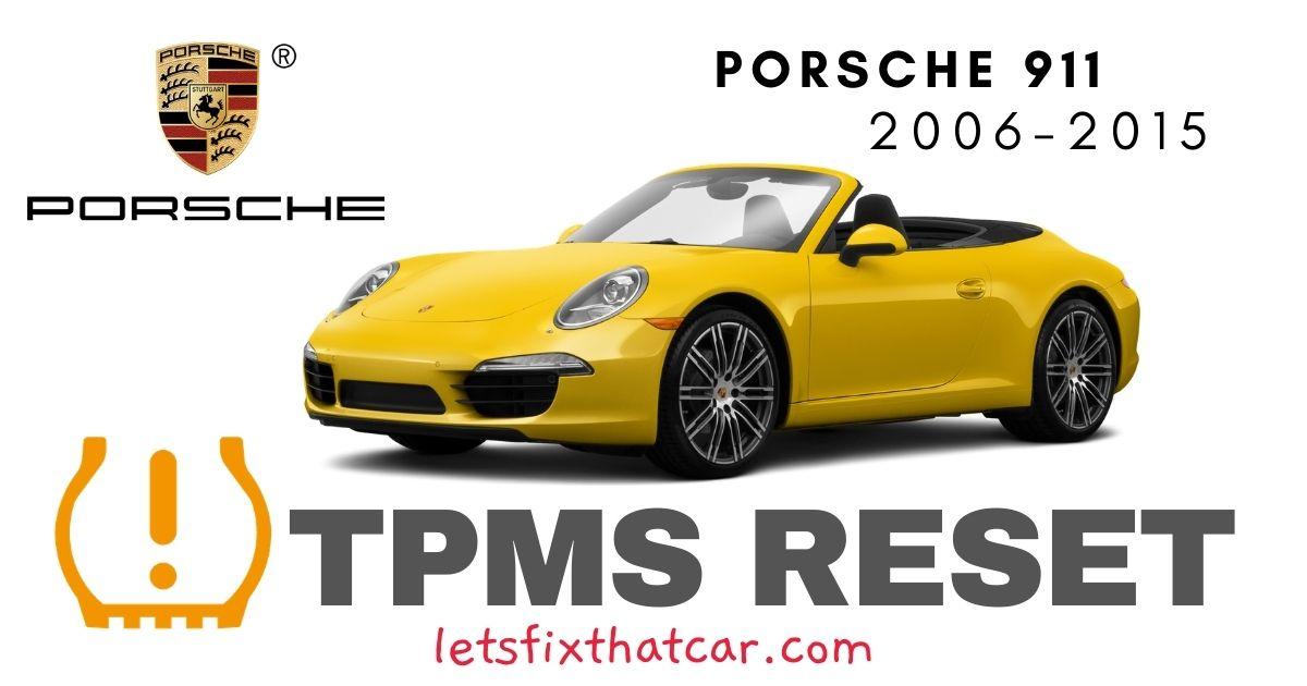 TPMS Reset-Porsche 911 2006-2015 Tire Pressure Sensor