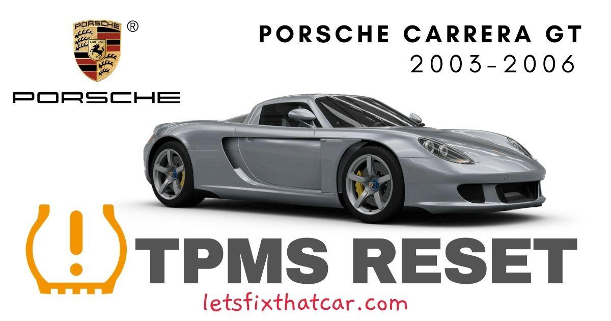 TPMS Reset-Porsche Carrera GT 2003-2006 Tire Pressure Sensor
