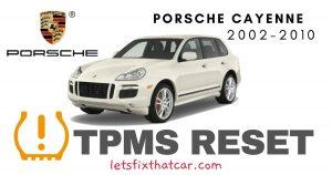 TPMS Reset-Porsche Cayenne 2002-2010 Tire Pressure Sensor