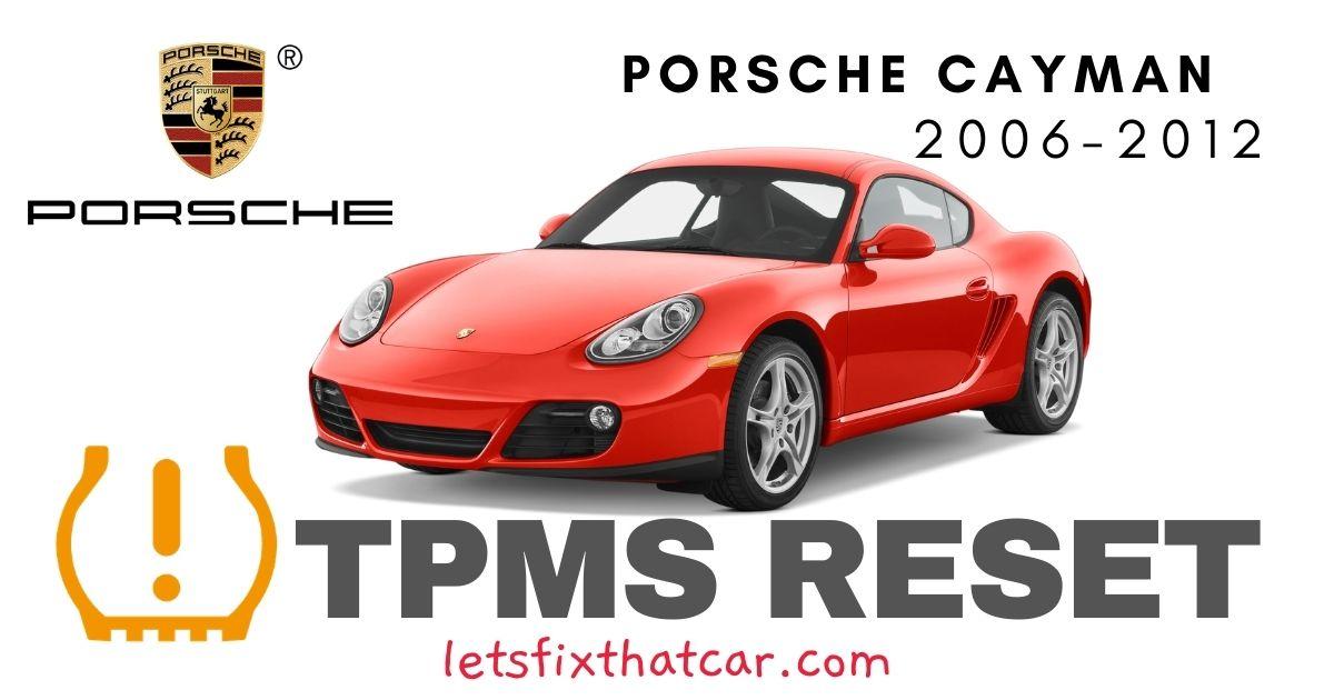 TPMS Reset-Porsche Cayman 2006-2012 Tire Pressure Sensor
