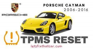 TPMS Reset-Porsche Cayman 2006-2016 Tire Pressure Sensor