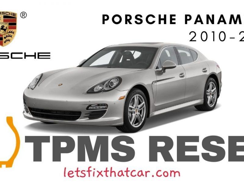 TPMS Reset-Porsche Panamera 2010-2013 Tire Pressure Sensor