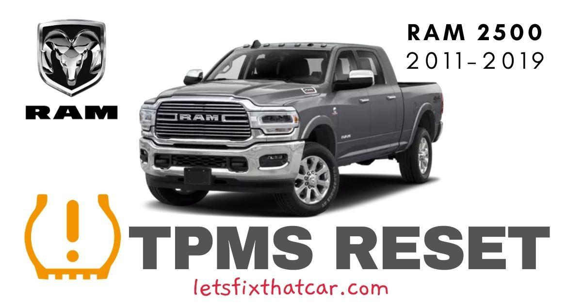 TPMS Reset-RAM 2500 2011-2019 Tire Pressure Sensor