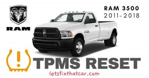 TPMS Reset-RAM 3500 2011-2018 Tire Pressure Sensor