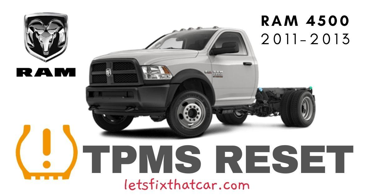 TPMS Reset-RAM 4500 2011-2013 Tire Pressure Sensor