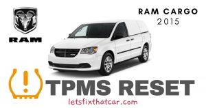 TPMS Reset-RAM Cargo 2015 Tire Pressure Sensor