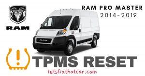 TPMS Reset-RAM Pro Master 2014-2019 Tire Pressure Sensor