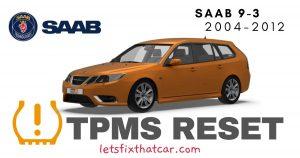 TPMS Reset-Saab 9-3 2004-2012 Tire Pressure Sensor