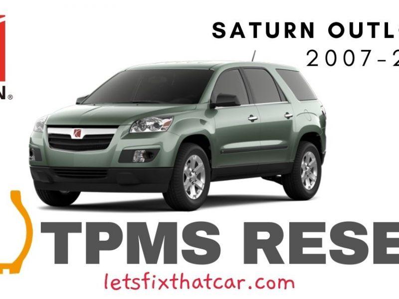 TPMS Reset-Saturn Outlook 2007-2010 Tire Pressure Sensor
