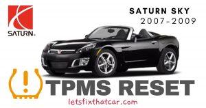 TPMS Reset-Saturn Sky 2007-2009 Tire Pressure Sensor