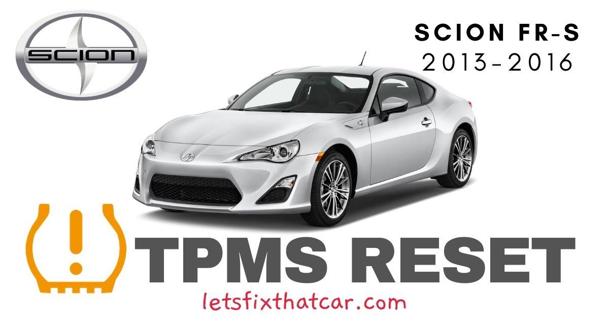 TPMS Reset-Scion FR-S 2013-2016 Tire Pressure Sensor